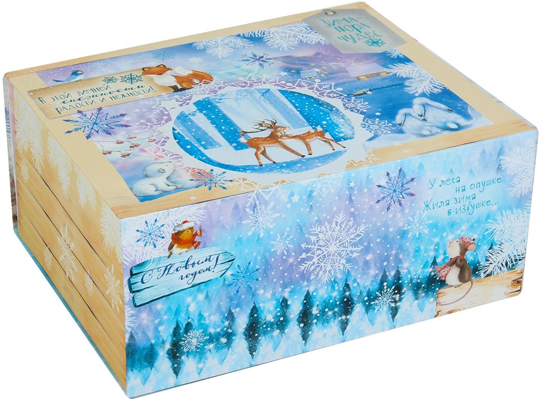 Фото - Коробка-трансформер подарочная Дарите Счастье Зима - пора чудес, 17 х 13 х 7 см коробка трансформер подарочная дарите счастье с новым годом 13 х 9 х 5 см
