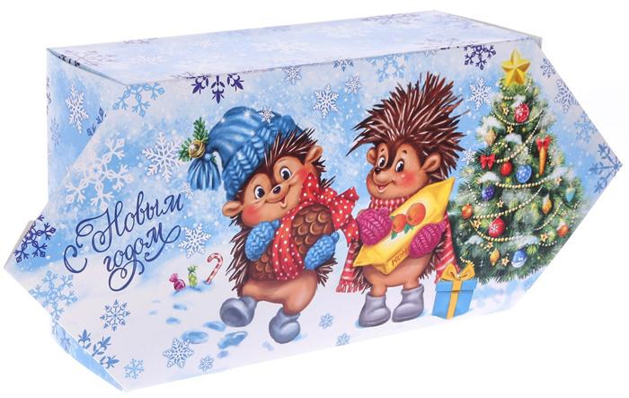 Фото - Коробка-конфета подарочная Дарите Счастье Веселого Нового года!, сборная, 9,3 х 14,6 х 5,3 см коробка конфета подарочная дарите счастье веселого настроения складная 16 х 7 х 7 см