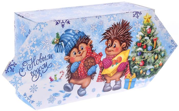 Фото - Коробка-конфета подарочная Дарите Счастье Веселого Нового года!, сборная, 14 х 22 х 8 см коробка конфета подарочная дарите счастье веселого настроения складная 16 х 7 х 7 см