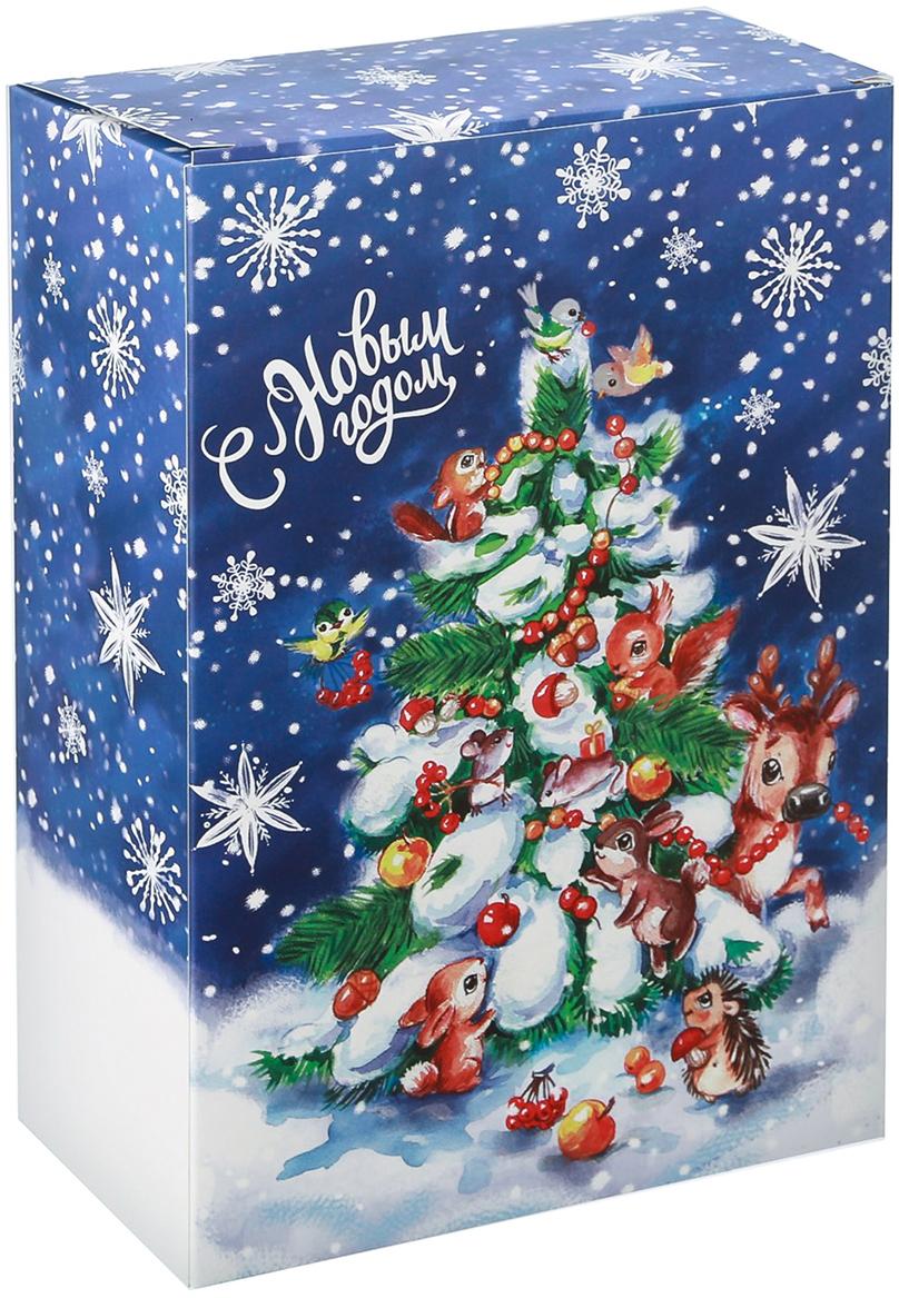 Фото - Коробка подарочная Дарите Счастье С Новым годом, складная, 22 х 30 х 10 см коробка трансформер подарочная дарите счастье с новым годом 13 х 9 х 5 см