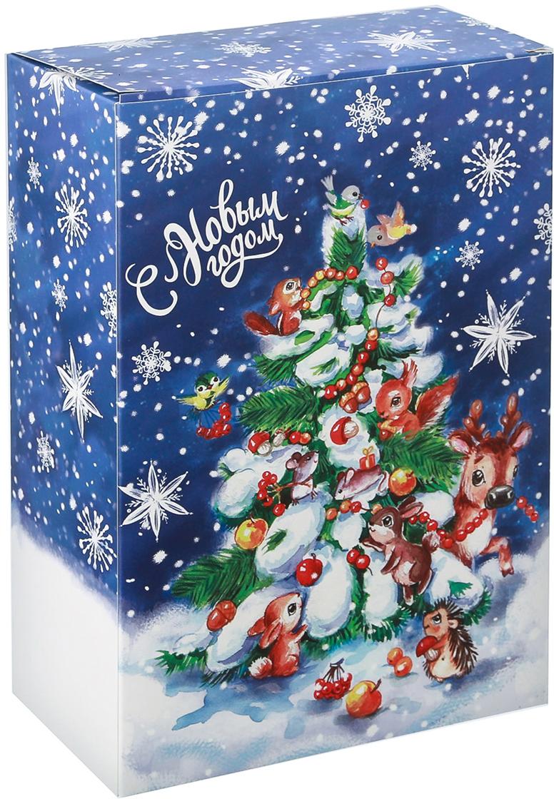 Фото - Коробка подарочная Дарите Счастье С Новым годом, складная, 16 х 23 х 7,5 см. 3558223 коробка трансформер подарочная дарите счастье с новым годом 13 х 9 х 5 см