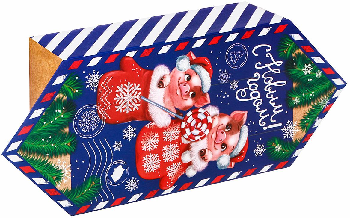 Фото - Коробка-конфета подарочная Дарите Счастье С Новым Годом!, сборная, 14 х 22 х 8 см коробка трансформер подарочная дарите счастье с новым годом 13 х 9 х 5 см