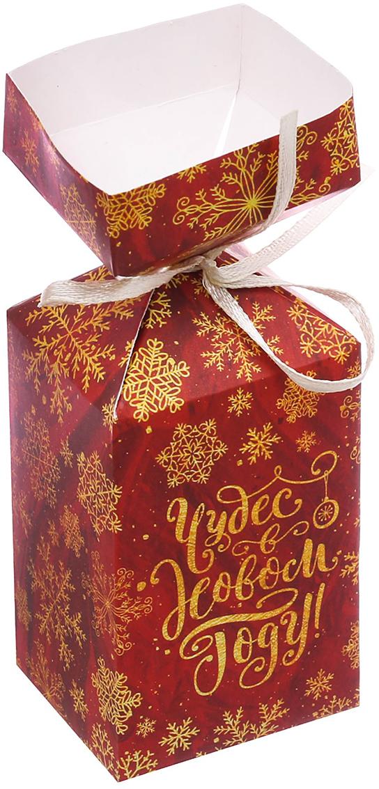 """Коробка подарочная Дарите Счастье """"Чудес в Новом Году"""", сборная, фигурная, 4,5 х 4,5 х 12 см"""