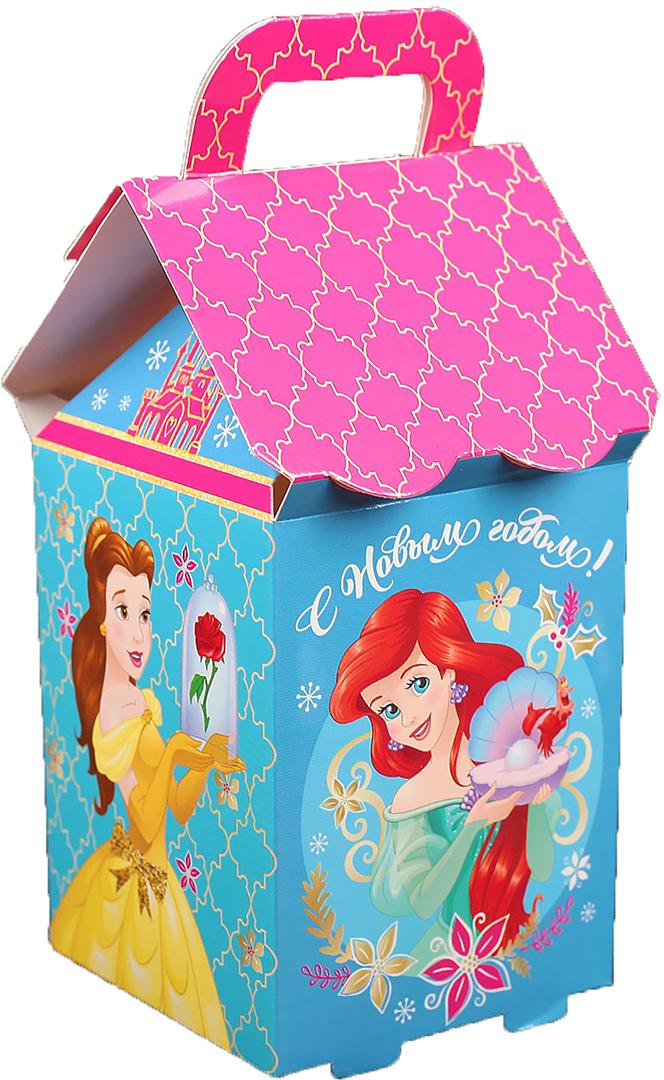 """Коробка подарочная Disney """"С Новым годом. Принцессы"""", складная, 8 х 14 х 8 см"""