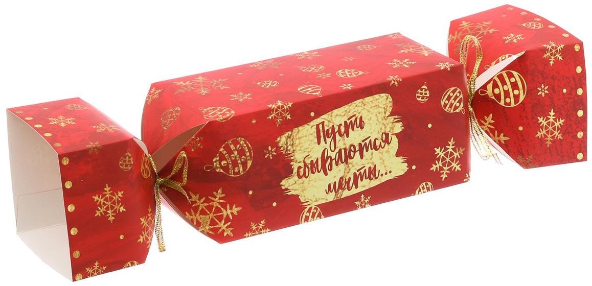 Коробка-конфета подарочная Дарите Счастье Пусть сбываются мечты, складная, 11 х 5 х 5 см3596989Любой подарок начинается с упаковки. Что может быть трогательнее и волшебнее, чем ритуал разворачивания полученного презента. И именно оригинальная, со вкусом выбранная упаковка выделит ваш подарок из массы других. Она продемонстрирует самые теплые чувства к виновнику торжества и создаст сказочную атмосферу праздника.