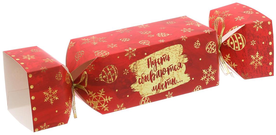 Фото - Коробка-конфета подарочная Дарите Счастье Пусть сбываются мечты, складная, 16 х 7 х 7 см коробка конфета подарочная дарите счастье веселого настроения складная 16 х 7 х 7 см