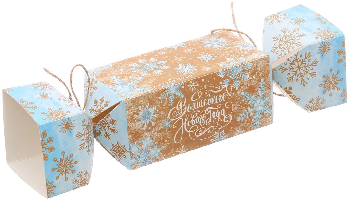 Фото - Коробка-конфета подарочная Дарите Счастье Волшебного Нового года, складная, 11 х 5 х 5 см коробка конфета подарочная дарите счастье веселого настроения складная 16 х 7 х 7 см