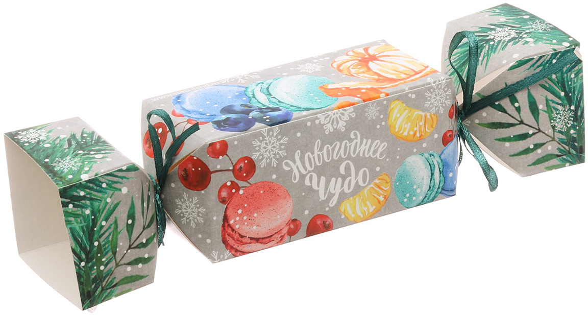Коробка-конфета подарочная Дарите Счастье Новогоднее чудо, складная, 11 х 5 х 5 см коробка подарочная mister christmas складная 15 5 х 19 5 х 6 5 см gh fb 1