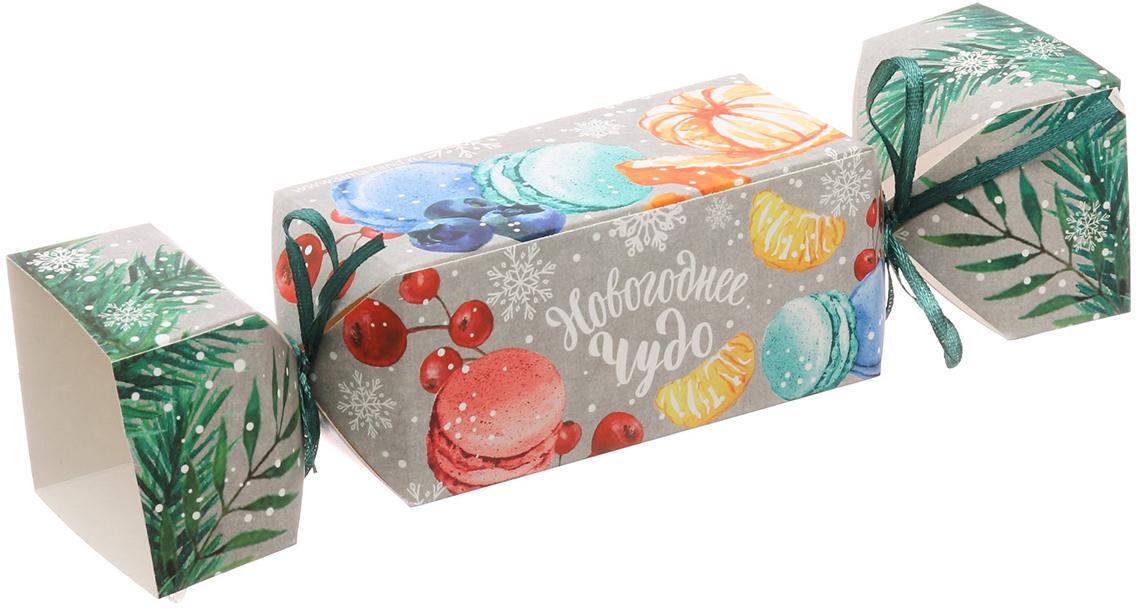 Фото - Коробка-конфета подарочная Дарите Счастье Новогоднее чудо, складная, 16 х 7 х 7 см коробка конфета подарочная дарите счастье веселого настроения складная 16 х 7 х 7 см