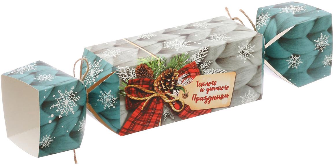 Фото - Коробка-конфета подарочная Дарите Счастье Теплого и уютного праздника, складная, 16 х 7 х 7 см коробка конфета подарочная дарите счастье веселого настроения складная 16 х 7 х 7 см