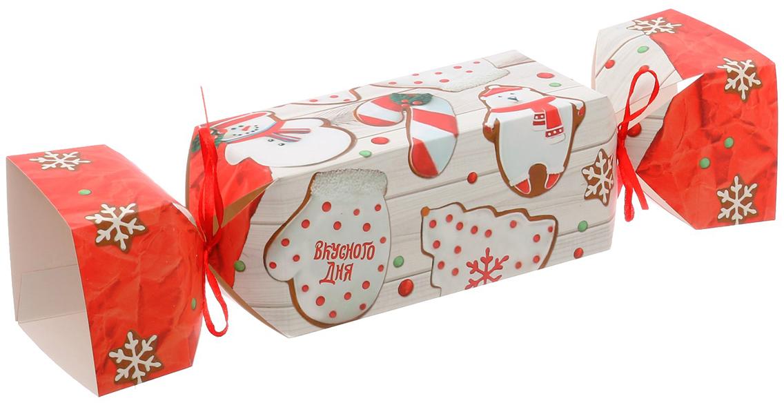 Коробка-конфета подарочная Дарите Счастье Вкусного дня, складная, 11 х 5 х 5 см коробка подарочная mister christmas складная 15 5 х 19 5 х 6 5 см gh fb 1