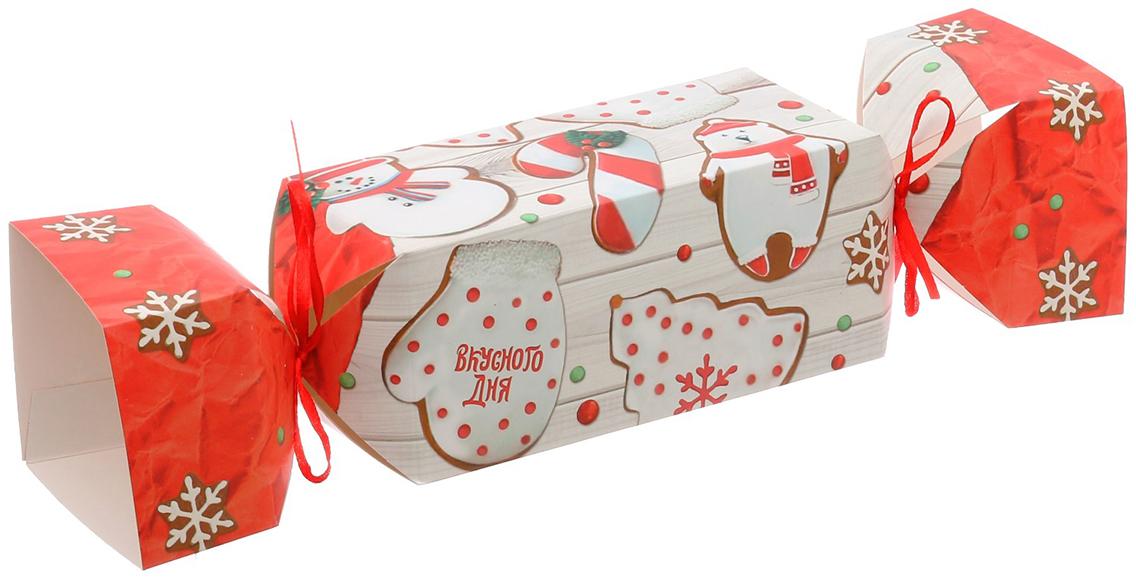 Фото - Коробка-конфета подарочная Дарите Счастье Вкусного дня, складная, 16 х 7 х 7 см коробка конфета подарочная дарите счастье веселого настроения складная 16 х 7 х 7 см