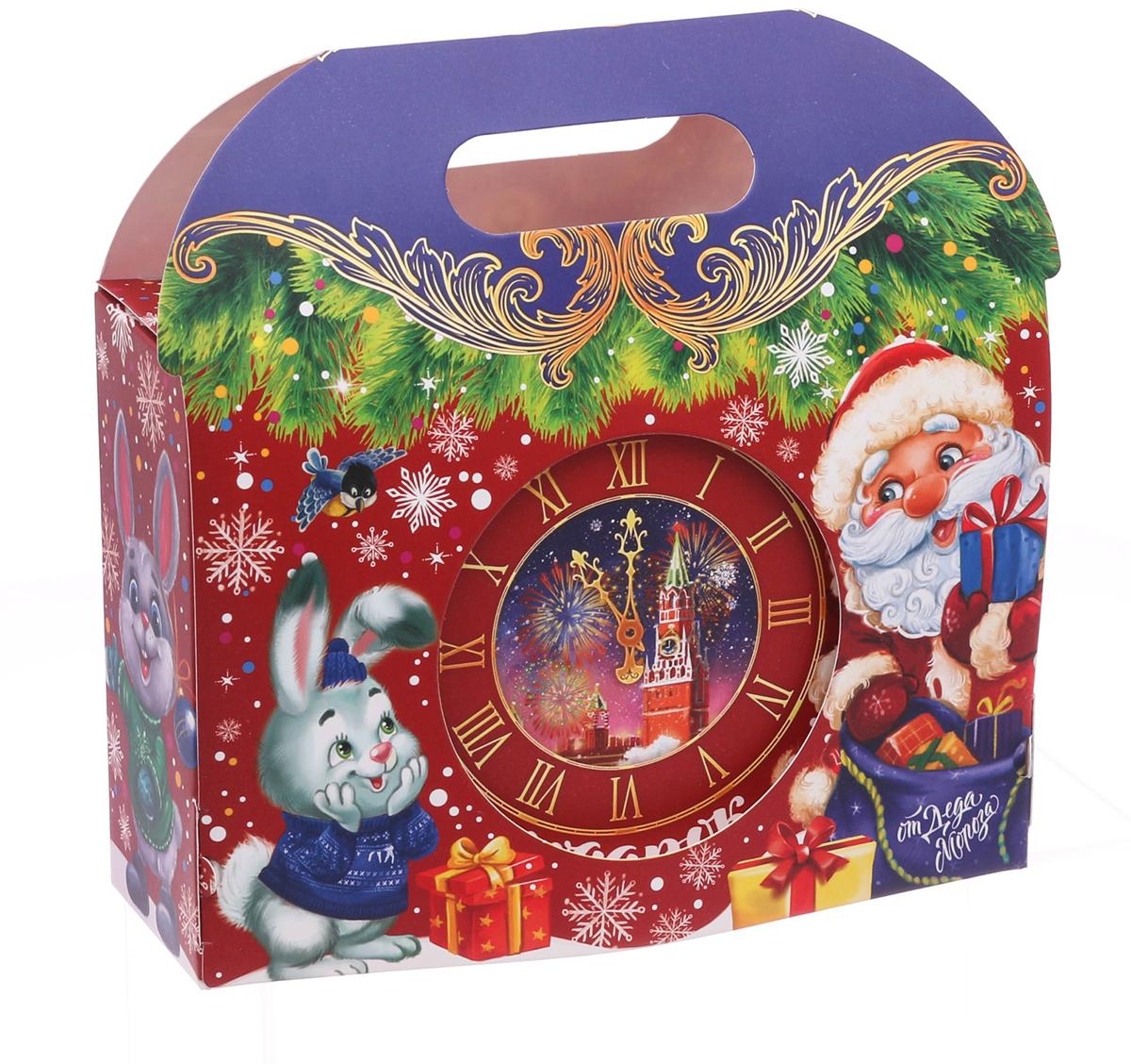 Коробка подарочная Дарите Счастье Новогодний подарок, складная, 18,5 х 13 х 6 см декоративный магнит новогодний подарок 6 см х 5 см 31544