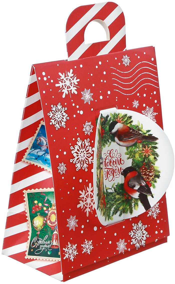 Фото - Коробка подарочная Дарите Счастье С Новым Годом, складная, 14 х 18,5 х 8 см коробка трансформер подарочная дарите счастье с новым годом 13 х 9 х 5 см