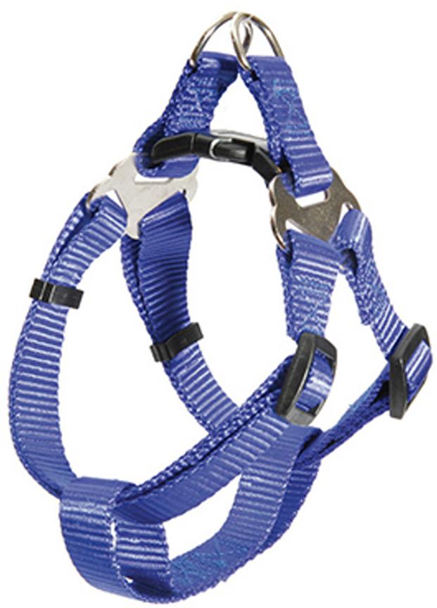Шлейка для собак Каскад, цвет: синий, ширина 15 мм, обхват груди 30-50 см шлейка для собак каскад цвет красный 1 5 х 30 50 см