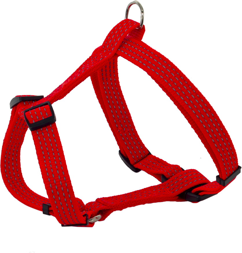 Шлейка для собак Каскад, цвет: красный, 1,5 х 30-50 см щетка для животных каскад на руку цвет красный 12 5 х 7 5 см