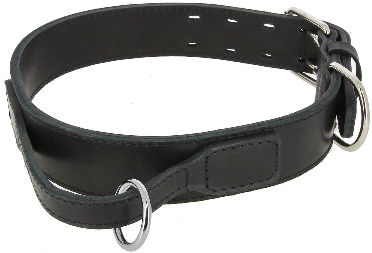 Ошейник для собак Каскад, двойной, прошитый, ширина 25 мм, обхват шеи 40-55 см ошейник для собак каскад строгий быстросъемный диаметр 3 мм длина 55 см