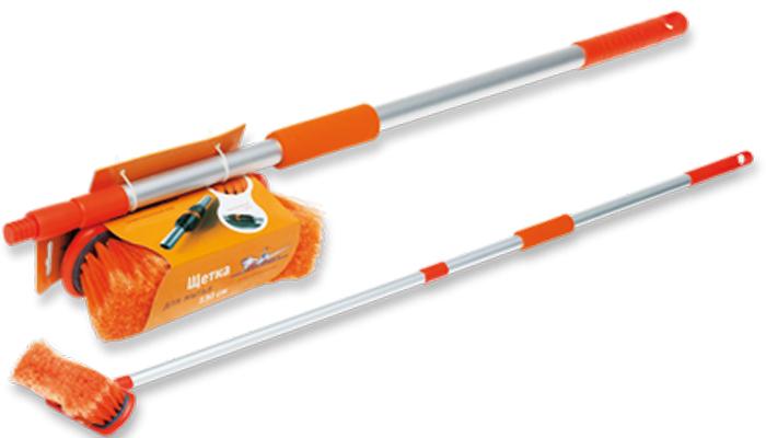 Швабра Airline, с щеткой и телескопической ручкой, 130 см швабра aqualine лепестковая с ручкой 130 см