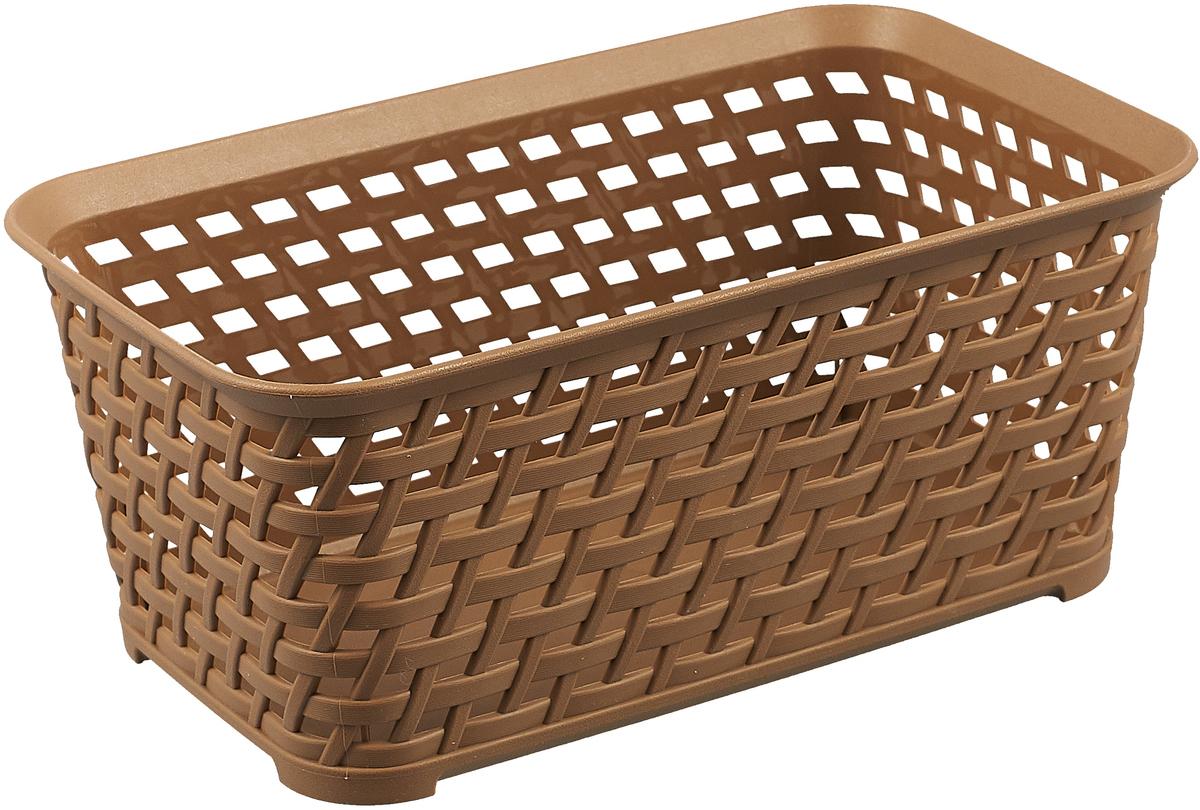 Ящик для хранения Idea Ротанг, цвет: бежевый ротанг, 2 л ящик пластиковый ротанг 46 л