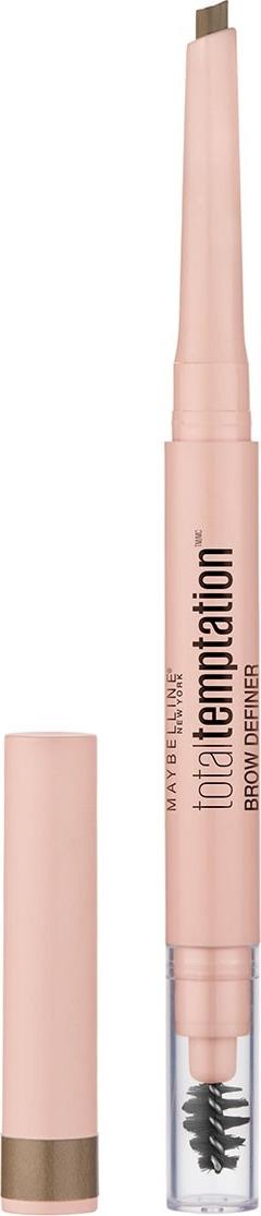 Карандаш для бровей Maybelline New York Temptation, карандаш + щеточка, оттенок 100, цвет: блонд