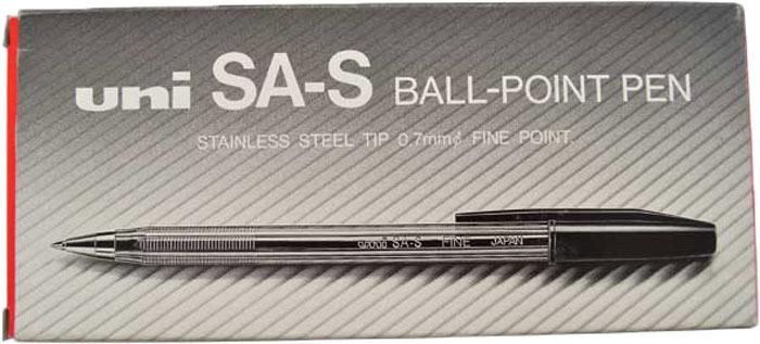 Набор ручек шариковых Uni, FINE SA-S, цвет чернил: синий, 0,7 мм. 12 шт Uni