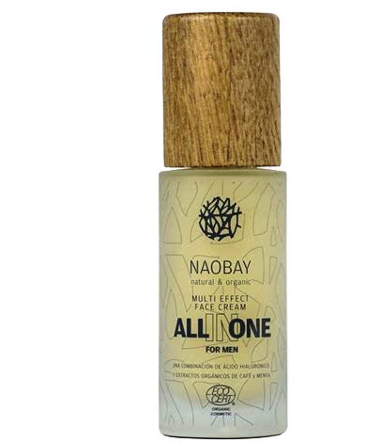 Крем для ухода за кожей Naobay Ecocert All in One296All in One Multi-effect Face Cream for men питательный крем для мужчин Комплексный крем для ежедневного ухода Naobay All in One Multi-effect Face Cream создан как часть комплекса по уходу за мужской кожей. Возвращает баланс, защищает от внешних факторов в течение дня благодаря экстрактам алоэ вера, ягод годжи и дерева Гинкго Билоба. Сочетание органических масел оказывает на кожу увлажняющее действие, а экстракт перечной мяты обеспечивает ощущение силы и плотности кожи. Уникальная текстура крем-геля обогащена питательными и защитными свойствами органических экстрактов с активными ингредиентами, которые помогают проникать в глубокие слои кожи, что позволяет улучшить эластичность кожи. Данный комплекс содержит гиалуроновую кислоту насыщая кожу влагой, в то время как сочетание экстракта мяты и экстракта ягоды Годжи очищают, успокаивают и стимулируют. Фотопротекторная функция экстракта кофе и лакрицы предотвращает преждевременное старение кожи.