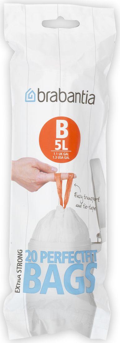 Мешки для мусора Brabantia, 5 л, 20 шт. 311741311741Мусорные пакеты изготовлены из особо прочного полиэтилена (HDPE). •Затяжная лента позволяет быстро и легко сменить пакет для мусора: просто потяните за ленту, она аккуратно запечатает горловину мешка и превратится в крепкие ручки. Как правильно подобрать размер пакетов для мусорных баков Brabantia? •Широкий выбор размеров позволяет подобрать объем пакета, идеально подходящий для мусорного бака Brabantia. •Цветовые маркеры на внутренней стороне крышки мусорного ведра помогут при выборе сменных мешков, которые также имеют маркировку в зависимости от размера (см. фото). •Доступные размеры: A, B, C, E, F, G и H (см. фото). •Пакеты для мусора (размер B) подходят для моделей мусорных баков Brabantia PEDAL BIN (высокие) на 20 л.