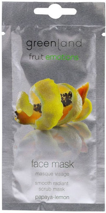 цены Маска косметическая Greenland папайя-лимон, 10 мл