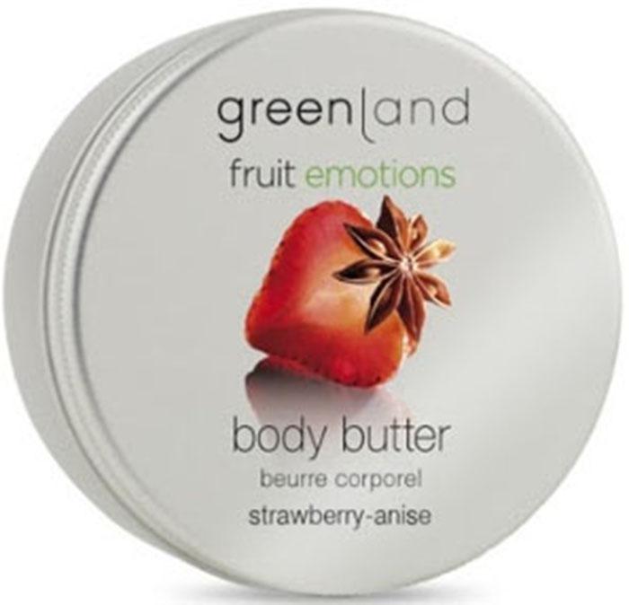 Масло косметическое Greenland кремовое, клубника-анис, 120 мл