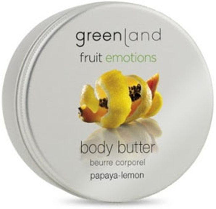 Масло косметическое Greenland кремовое, папайя-лимон, 120 мл