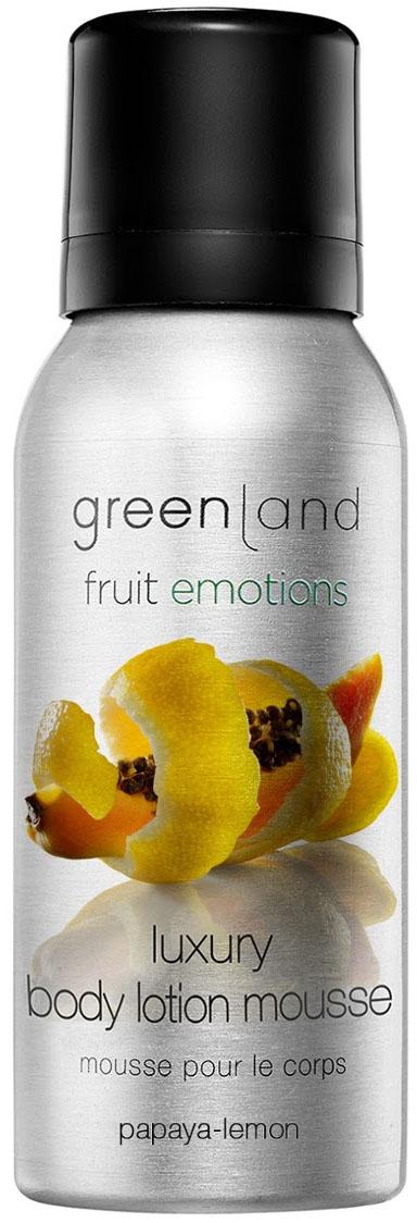 Лосьон-мусс для тела Greenland, папайя-лимон, 50 мл