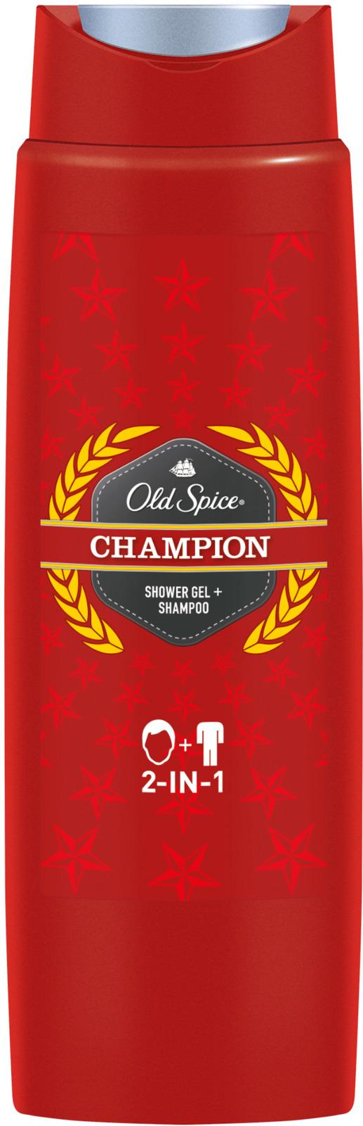 Гель для душа + Шампунь Old Spice 2в1 Champion, 250 мл