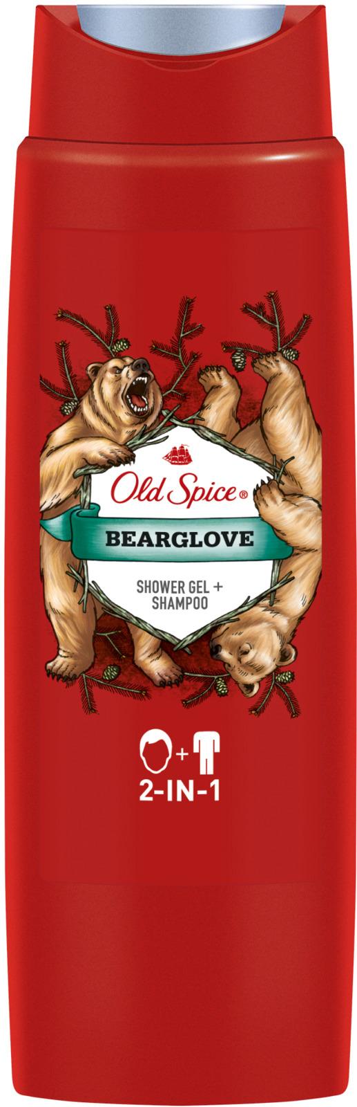 Гель для душа + Шампунь Old Spice 2в1 Bearglove, 250 мл