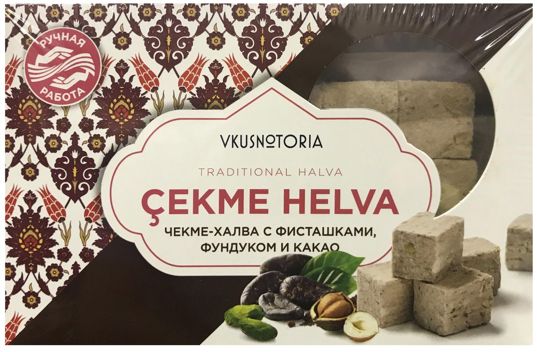 Чекме халва с фисташками, фундуком и какао Vkusnotoria, 126 г чекме халва с фисташками vkusnotoria 126 г