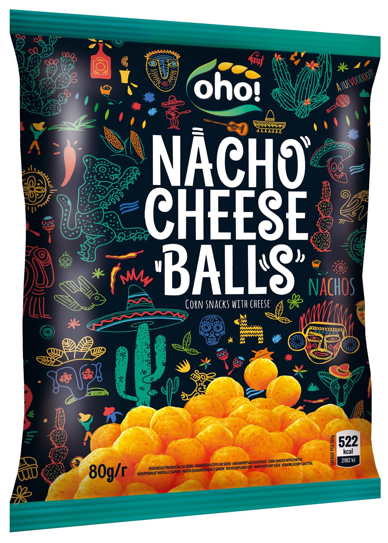 Кукурузные чипсы с сыром OhO! Chees Balls, 80 г santa maria чипсы кукурузные с чили 185 г