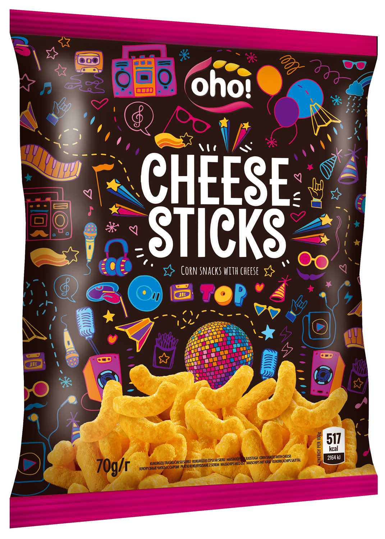 Кукурузные чипсы с сыром OhO! Chees Sticks, 70 г santa maria чипсы кукурузные с чили 185 г