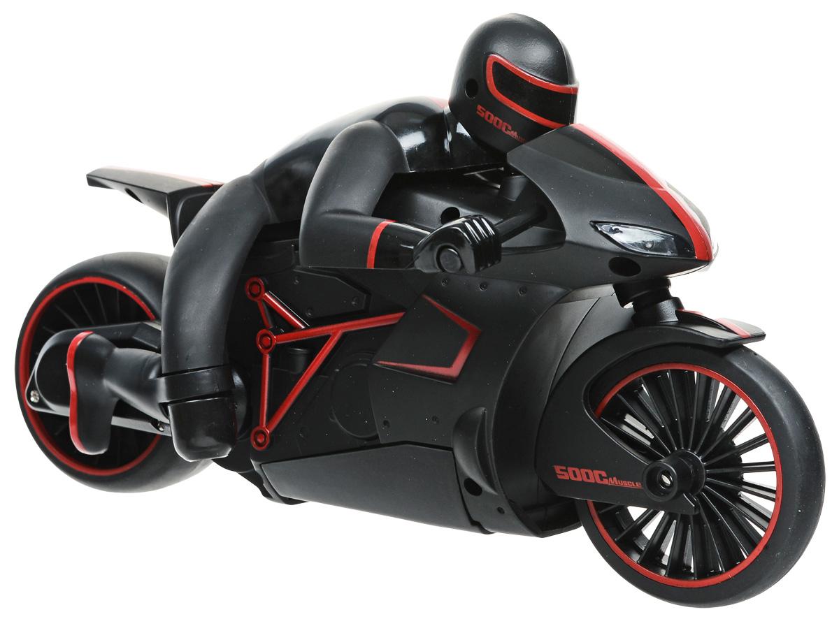 Мотоцикл с гонщиком Драйв 1TOY радиоуправляемая, цвет: черный, красный hot wheels мотоцикл с гонщиком цвет черный зеленый