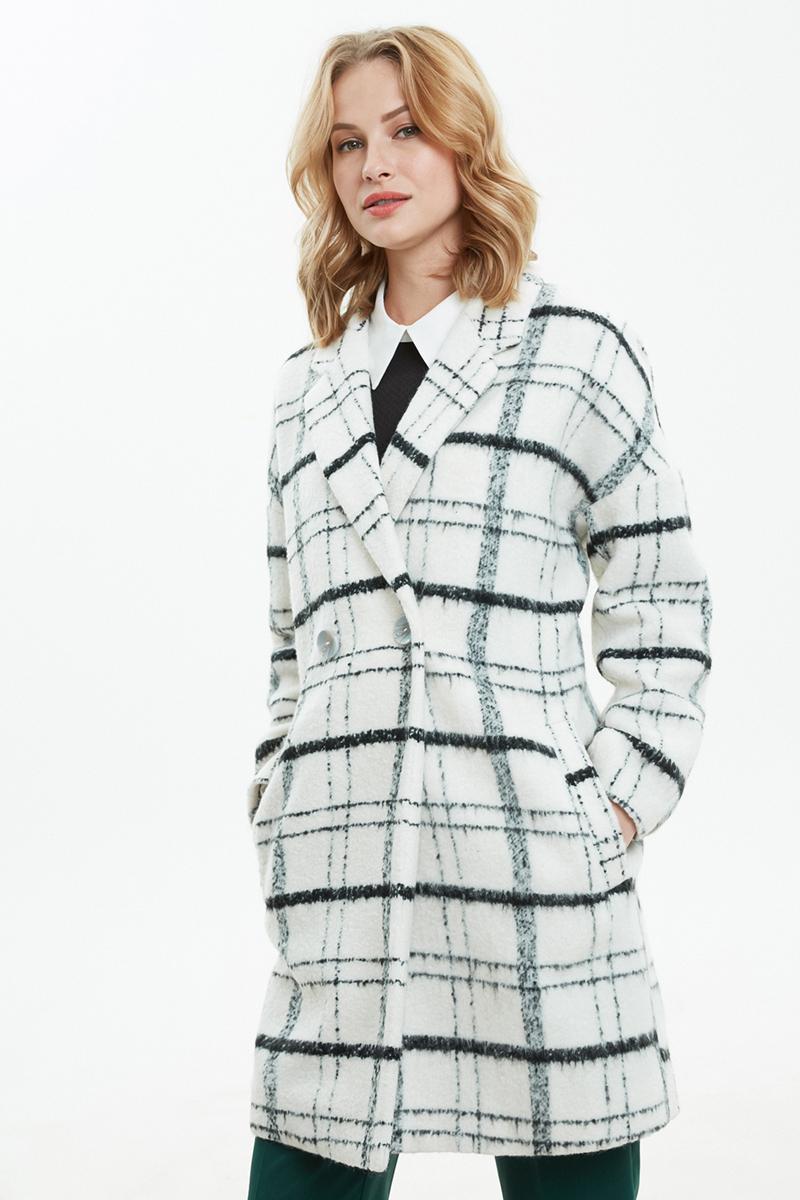 Пальто женское Concept Club Kirao1, цвет: черный. 10200610052_100. Размер XL (50)10200610052_100