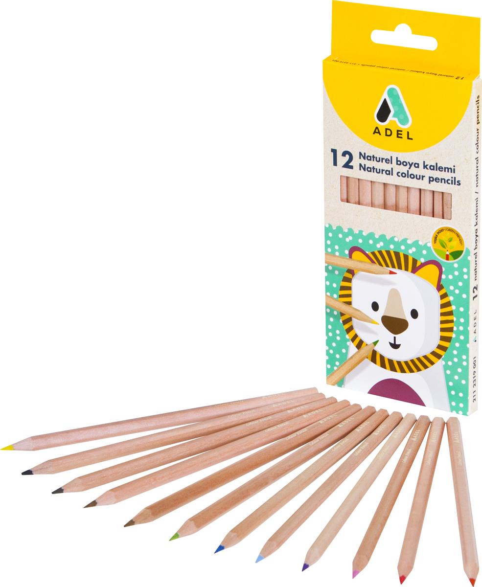 Набор цветных карандашей Adel, 12 шт. 2112335001
