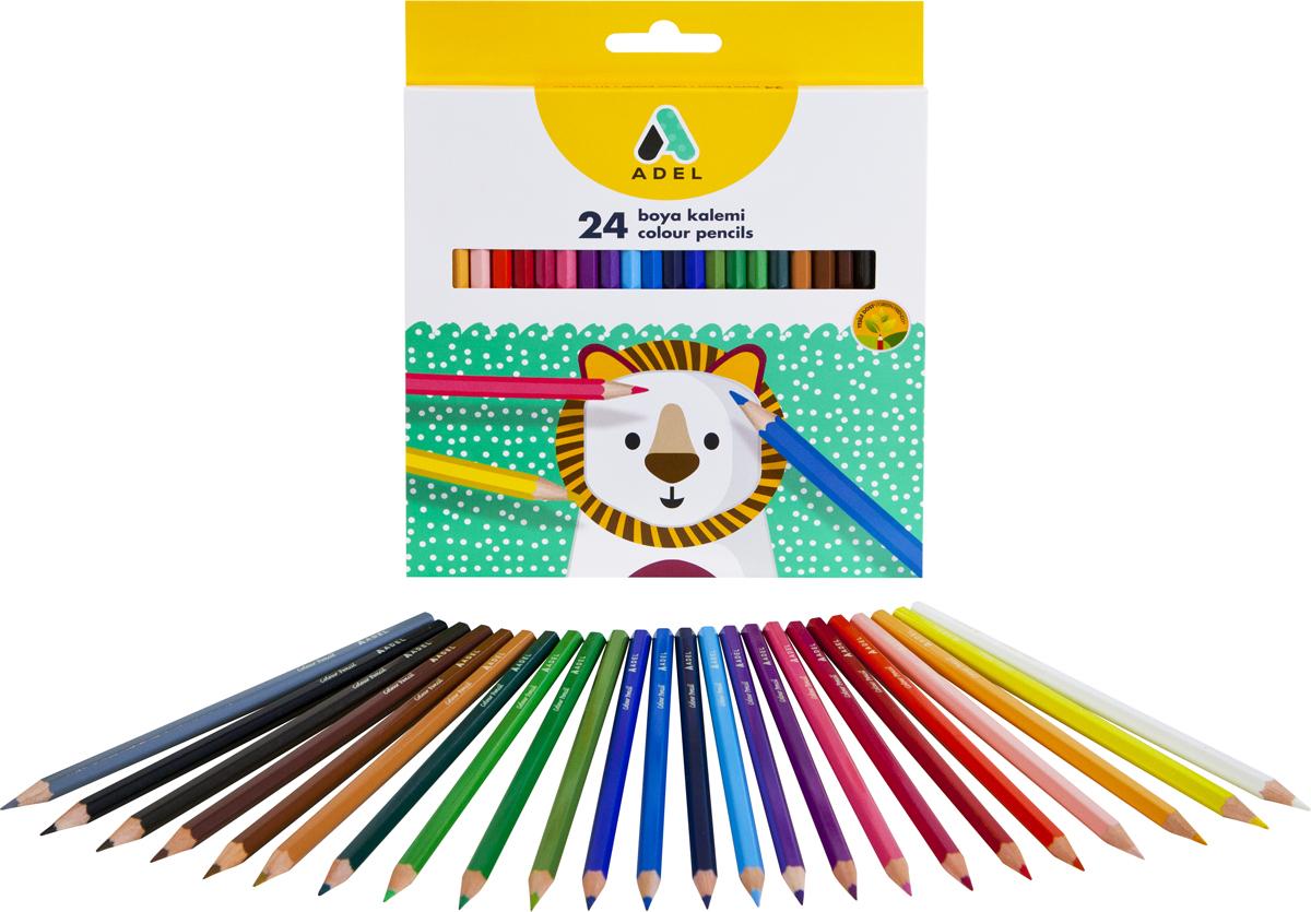 Набор цветных карандашей Adel, 24 шт. 2112315013