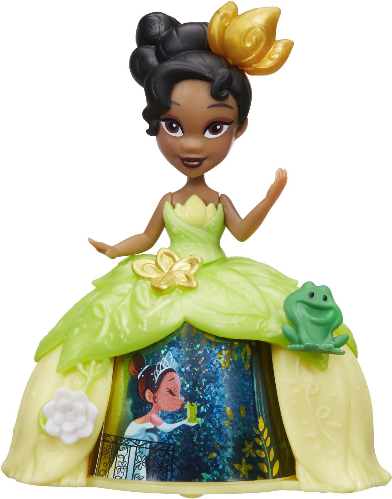 Мини-кукла в платье с волшебной юбкой Disney Princess Тиана mattel disney princess кукла принцесса золушка с развевающейся юбкой