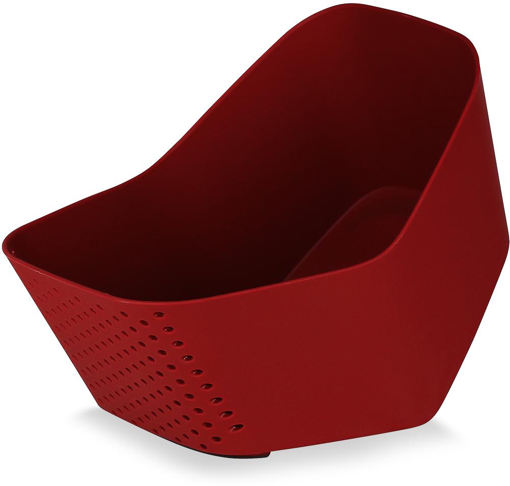 Миска Moulinvilla Cherry, цвет: бежевый, бордовый, 0,5 л