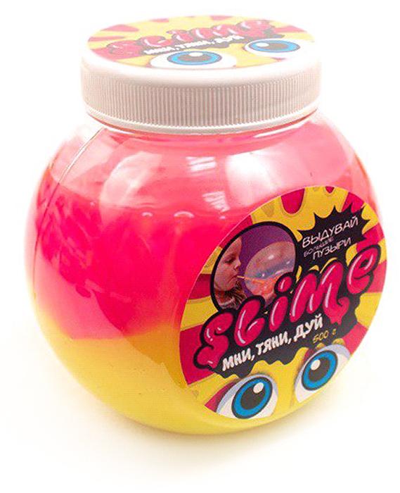 Жвачка для рук Slime Mega Mix, цвет: розовый, желтый, 500 г