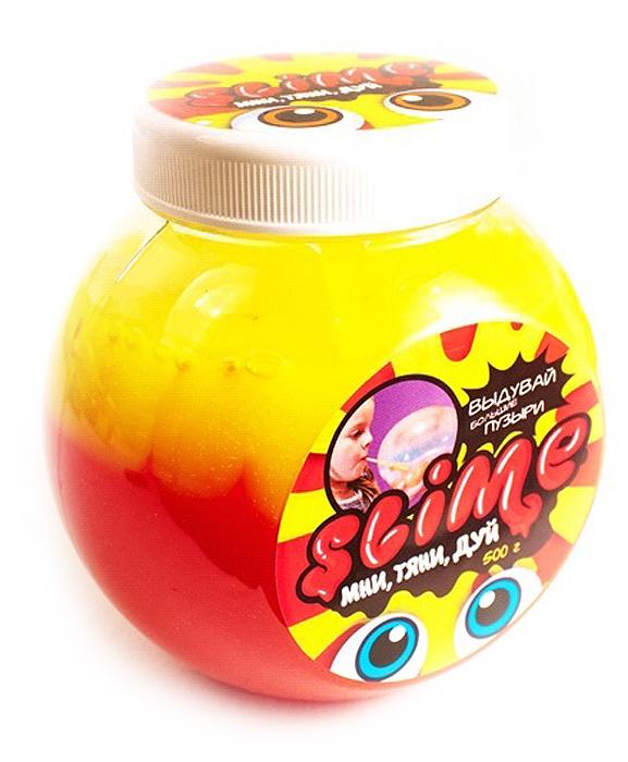 Жвачка для рук Slime Mega Mix, с ароматом клубники, цвет: желтый, 500 г