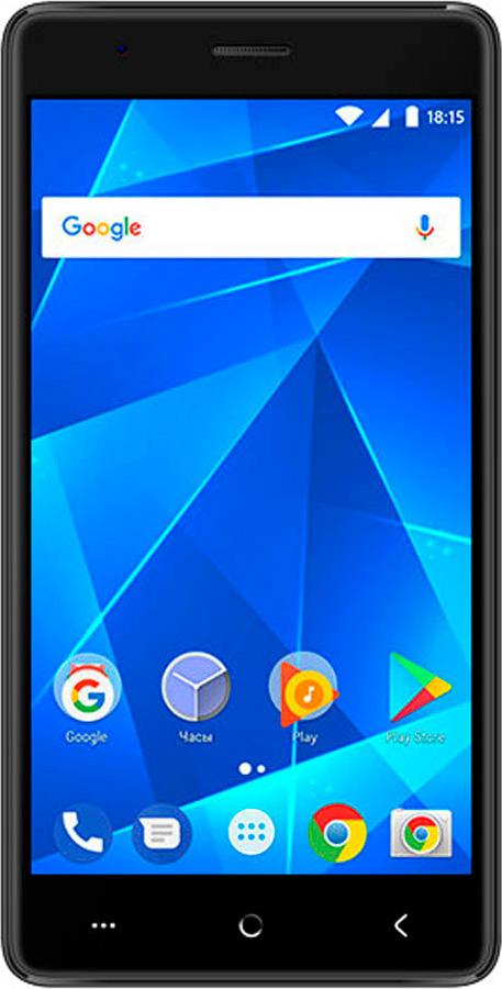 Смартфон BQ Mobile 5001L Contact 1/8GB, черный смартфон bq mobile bq 5001l contact 8 gb синий