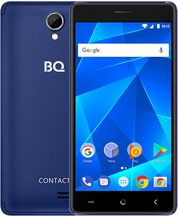 Смартфон BQ Mobile 5001L Contact 1/8GB, синий смартфон bq mobile bq 5001l contact 8 gb синий
