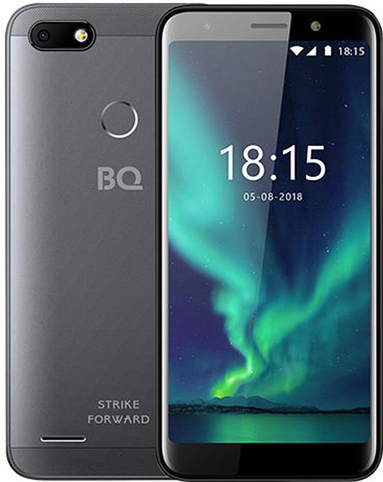 Смартфон BQ Mobile Strike Forward 16 GB, серый смартфон bq mobile bq 5512l strike forward gold