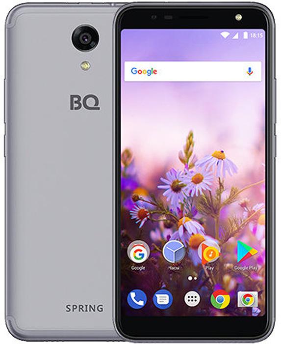 Смартфон BQ Mobile Spring 8 GB, серый смартфон bq mobile strike power 4g 8 gb серый