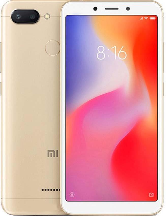 лучшая цена Смартфон Xiaomi Redmi 6 (32GB) 3/32GB, золотой