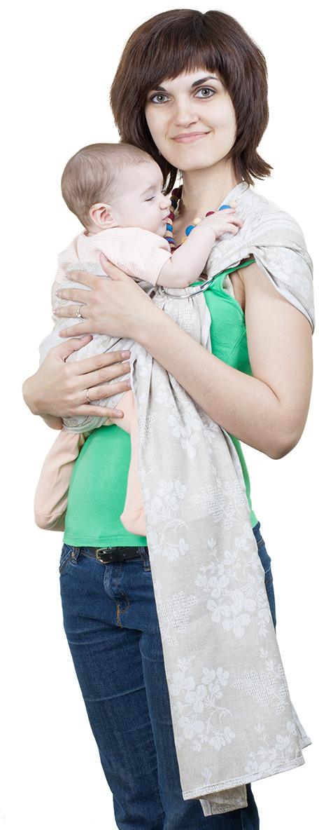 Слинг Чудо-чадо Слинг с кольцами Герба, СКЛ01-000 светло-серый